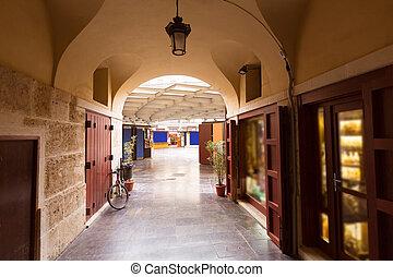 Valencia Plaza Redonda is a round square in Spain - Valencia...