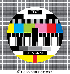 tv no signal monoscope