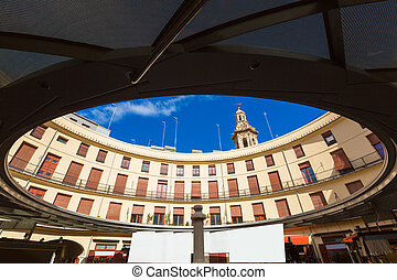 Valencia Plaza Redonda is a round square in Spain - Valencia...