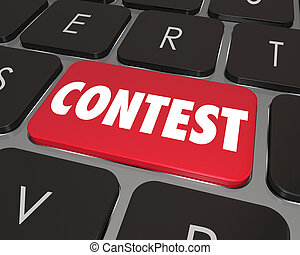 Contest Computer Key Button Enter Jackpot Prize Drawing...