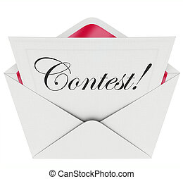 Contest Word Entry Form Letter Envelope Invitation to Play