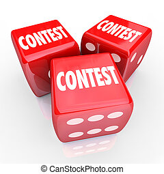 Contest Dice Word Roll Gamble Play to Win - Contest word on...