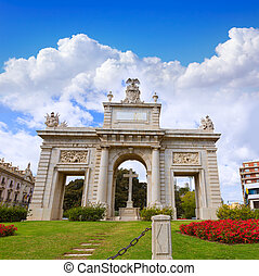 Valencia Porta Puerta del mar door square Spain - Valencia...