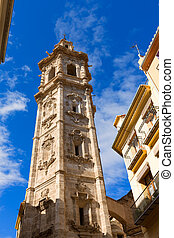 Valencia Santa Catalina church belfry tower Spain - Valencia...