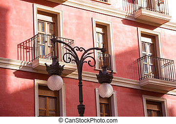 Valencia old town near Mercado Central market Spain -...