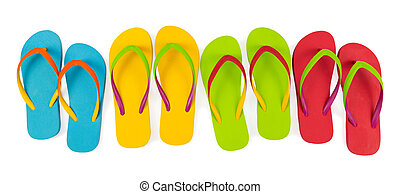 Flip flop sets - Realistic flip flop sets with different...