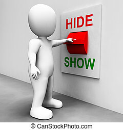 Show Hide Switch Means Conceal or Reveal - Show Hide Switch...