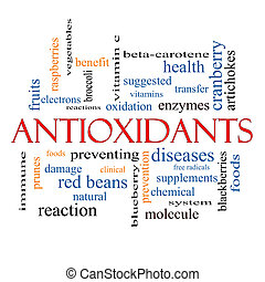 Antioxidants Word Cloud Concept with great terms such as...
