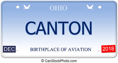 Canton Ohio Imitation License Plate - A fake imitation Ohio...