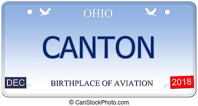 Canton Ohio Imitation License Plate - A fake imitation Ohio...