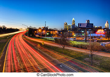 early morning in charlotte nc - early morning in charlotte...