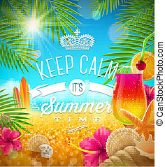 Summer holidays greeting design