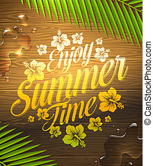 Summer holidays type design