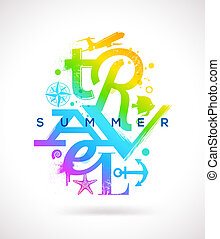 Summer travel type design