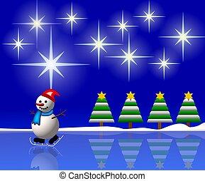snowman in winter wonderland