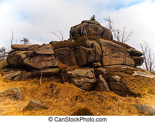 Rock formation - Typical granite rock formation in Jizera...