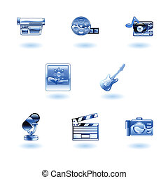 Shiny Media Icons