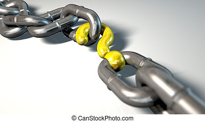 Chain Missing Link Question - A worn chain with a question...