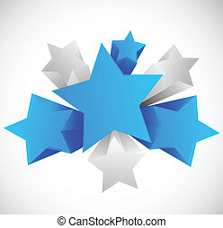 Abstract background with 3d stars