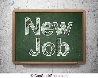 Finance concept: New Job on chalkboard background - Finance...