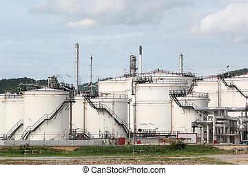 Storage oil tanks in Oil refinery