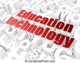 Education concept: Education Technology on alphabet...