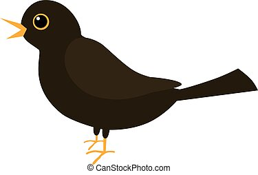 An illustration of a blackbird