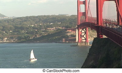 Sailboats and Golden Gate Bridge - Sailboats in the bay...
