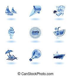 Shiny summer icons