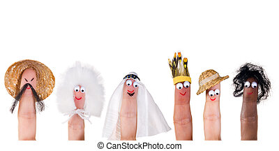 Human races finger puppets - Human races and diversity...