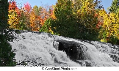 Lower Bond Falls Autumn Cascade - Bond Falls, a very...