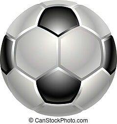 football or soccer ball icon - A shiny glossy football or...