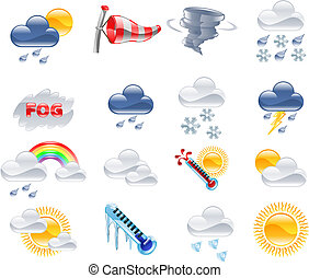Weather forecast icons - A high quality icon set relating to...