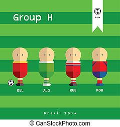 football players cartoon