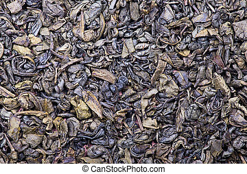 The background and texture of dry green tea