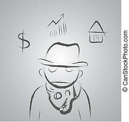 worker man cartoon