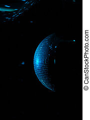 Colorful disco ball in a nightclub - Colorful turquoise blue...