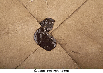 old letter - an old letter with wax stamp