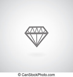 vector diamond symbol on gray background
