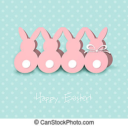 Easter card - Vector illustration Easter card with paper...