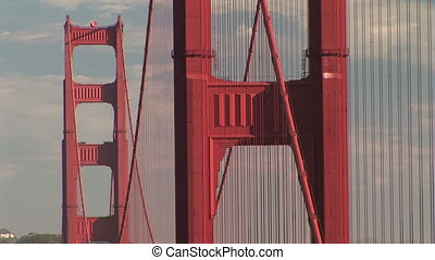 Golden Gate Bridge Towers - Golden Gate Bridge towers, San...