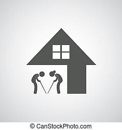 soins, maison, signe