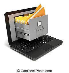 Digital folders - Very high resolution rendering of file...