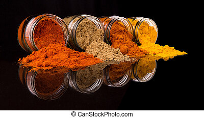 Mix Powdered Spices - Mix powdered spices in glass container...