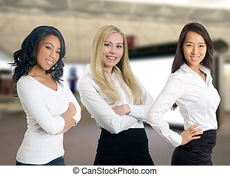 Group of diverse business women