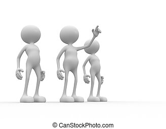 Up - 3d people - men, person in team