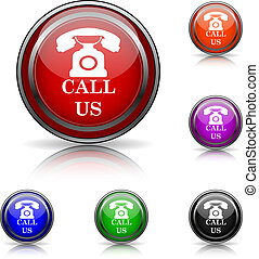 Call us icon - Shiny glossy colored icons - six colors...