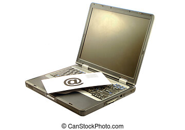 E-mail and computer - E-mail on a computer, symbol of...
