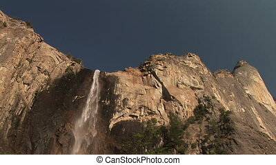 Bridal veil Falls, Yosemite National Park - Looking up at...