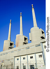 Thermal power plant in Sant Adria (Barcelona), Catalonia,...